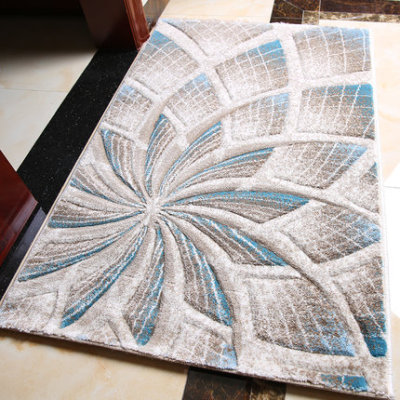 New design machine-made 100% polyester carpets and rugs