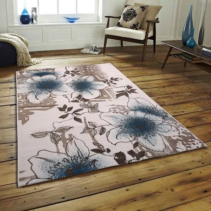 New design machine-made polyester flower carpet for livingroom