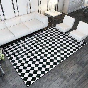 Modern design 100% polyester soft microfiber carpets and rugs