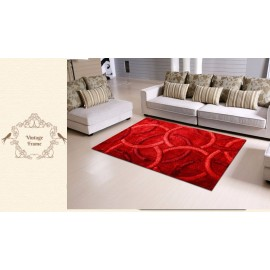 3D shaggy circular carpets and rugs,thin silk polyester shaggy carpet