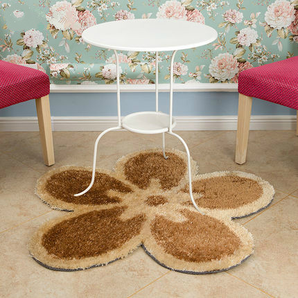 High quality shaggy polyester flower carpets for decoration
