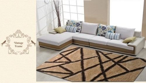 high quality hand tufted 1200D polyester shaggy carpets for home use from Tianjin China