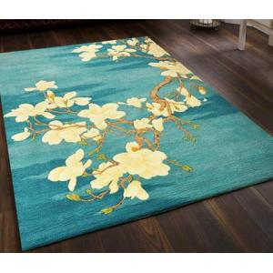 High quality jacquard microfiber flower carpets and rugs