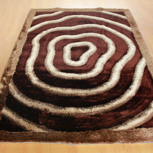 Environmental protection modern design 150D silk shaggy carpet and rugs