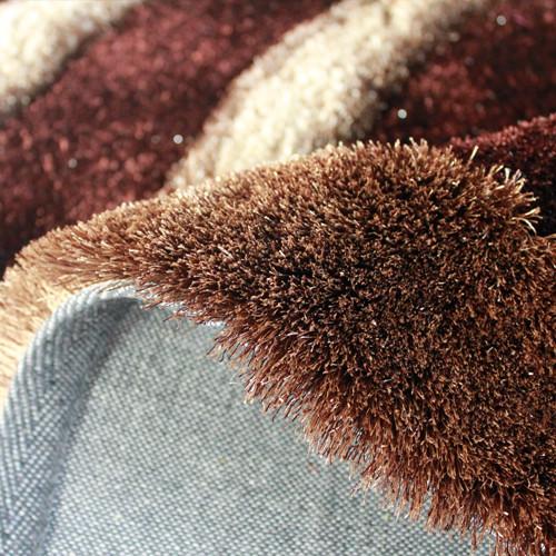 Environmental protection modern design 150D silk shaggy carpet and rugs