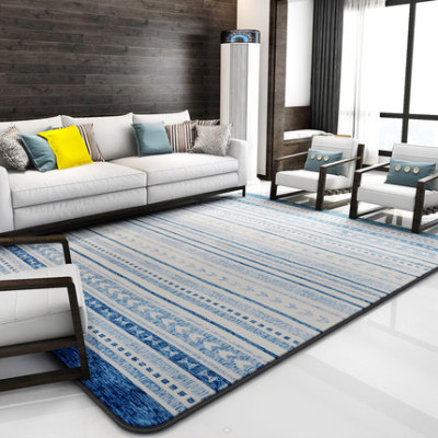 New design machine made 100% polyester floor rugs