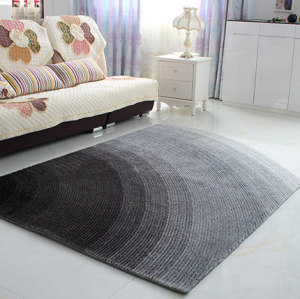 Handtufted 4D gradient shaggy polyester carpets for livingroom