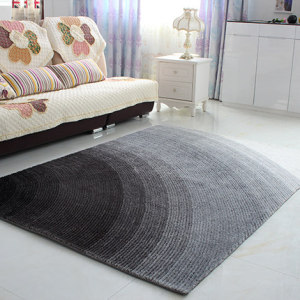 Handtufted 4D gradient shaggy polyester carpets for livingroom