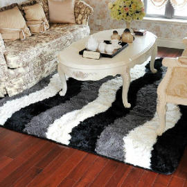 Long pile handtufted polyester shaggy rugs for bedroom