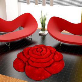 Handtufted 3D polyester flower shaggy rugs for decoration
