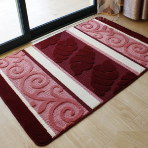 High quality soft microfiber anti-slip door mats or bath mats