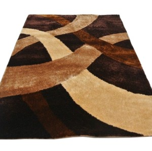 hot sale polyester silk shaggy modern design 3D carpet