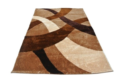 hot sale polyester silk shaggy modern design 3D carpet