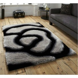 Decorative Flower Design 100% polyester new shaggy carpet