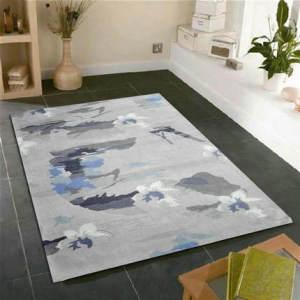Jacquard 100% polyester microfiber flower carpets for livingroom