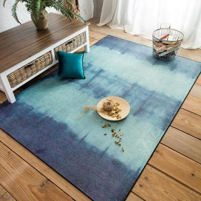 Hot selling machine made polyester gradient color carpets