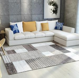 High quality machine made microfiber floor carpets for livingroom
