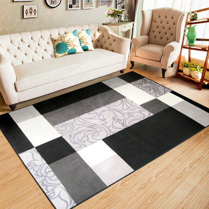 Machine made polyester simple style carpets for livingroom