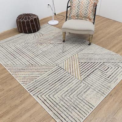 Hot selling jacquard geometric pattern floor rugs