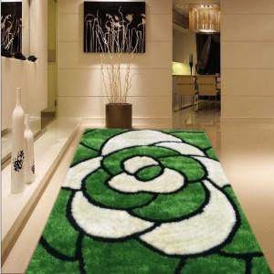 Decorative Flower Design 100% polyester 3D shaggy carpet