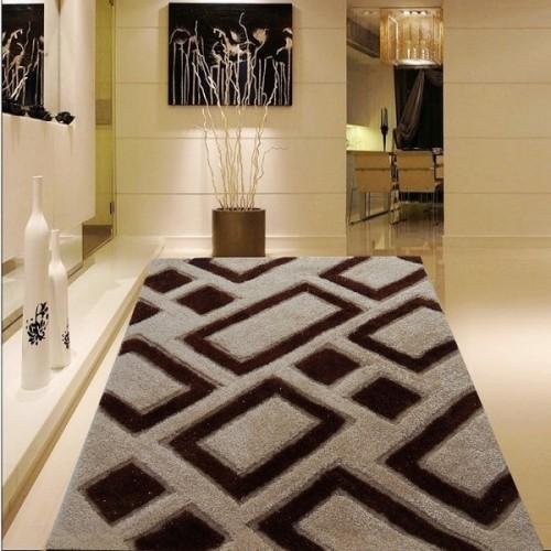 3d modern design polyester hand made silk shaggy carpet and rug