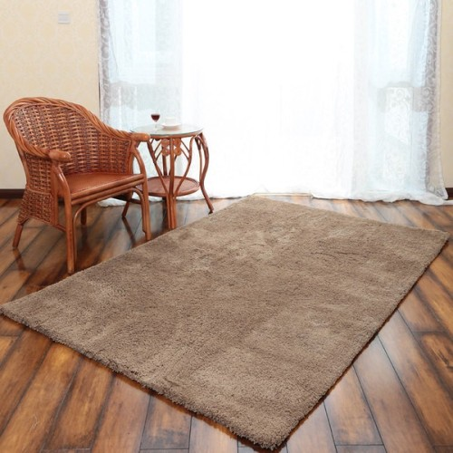 Hand tufted modern microfiber polyester plain shaggy carpet