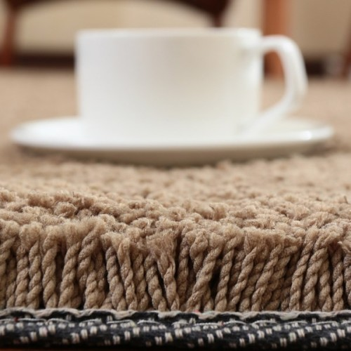 Hand tufted modern microfiber polyester plain shaggy carpet