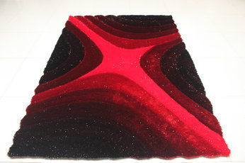 Beautiful new design 100% soft polyester yarn&silk rugs and carpet