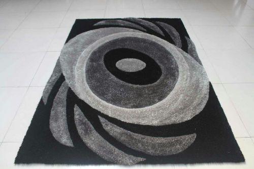 popular design stretch yarn mixed silk polyester shaggy carpet 3D design