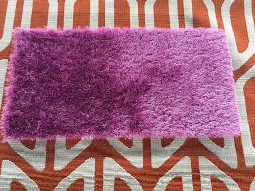 plain modern design polyester hand made silk shaggy carpet and rug
