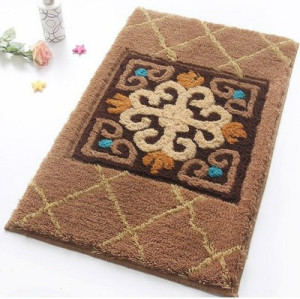 High quality soft microfiber  carpet tiles for livingroom or bathroom