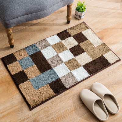 Hot selling jacquard 100% polyester bathmats or door mats