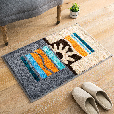 Machine made polyester carpets for bathroom out door rugs