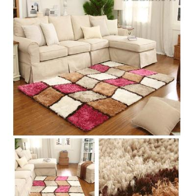 Handtufted 100% polyester shaggy carpets with different colors