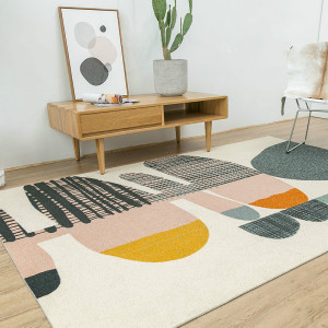 Modern design machine made polyester decorative carpets for livingroom