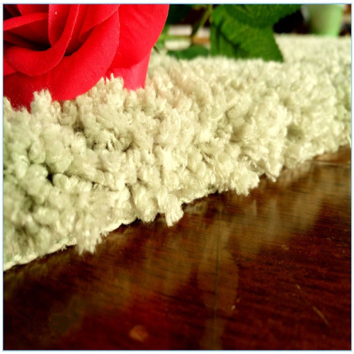 Plain design tufted comfortable polyester shaggy carpets for home