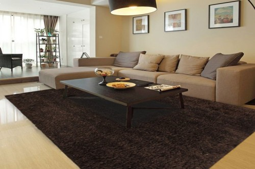 factory direct sale polyester long pile plain shag carpets and rugs