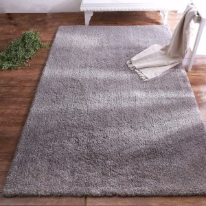Mixed yarn and polyester silk plain carpets and rugs