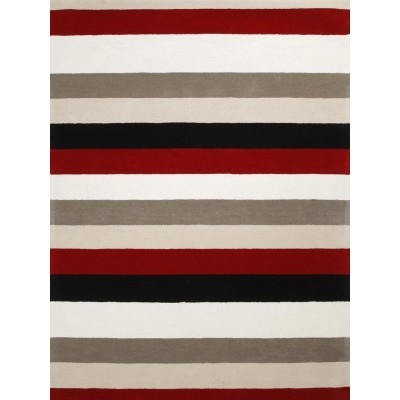 High quality machine made striped polyester carpets and rugs for livingroom