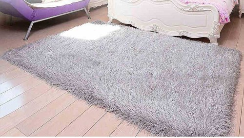 100% Polyester Elastic Yarn and 150D silk shaggy carpets/rugs for room