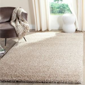 Wholesale handtufted polyester shaggy plain carpets for livingroom or bedroom