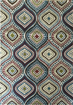 Modern machine made printed carpet floor area rug