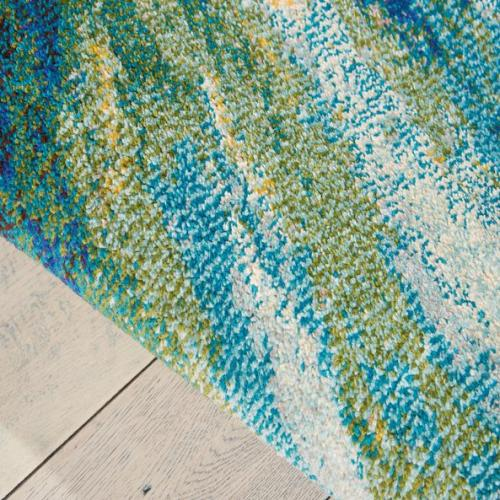 Customized machine made polyester material colorful patterned carpets