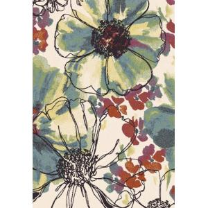 Modern design machine made 100% polyester flower rugs for room
