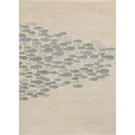 High quality machine made polyester microfiber fish pattern carpets for room