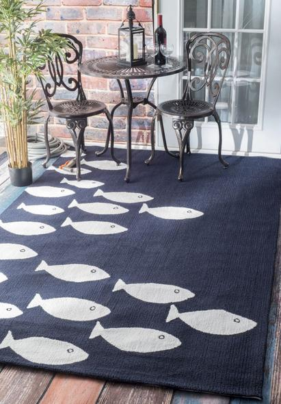 New design machine made polyester microfiber material fish pattern rugs