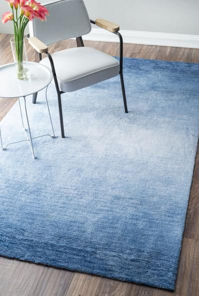 Customized hand tufted 100% polyester gradient carpets for livingroom