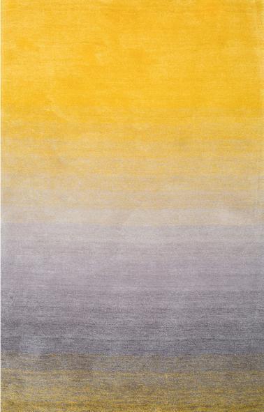 Modern design handtufted 100% polyester gradient shaggy rugs for livingroom