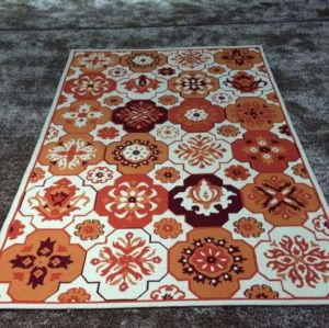 fashion style hot sell durable flower printed design carpet