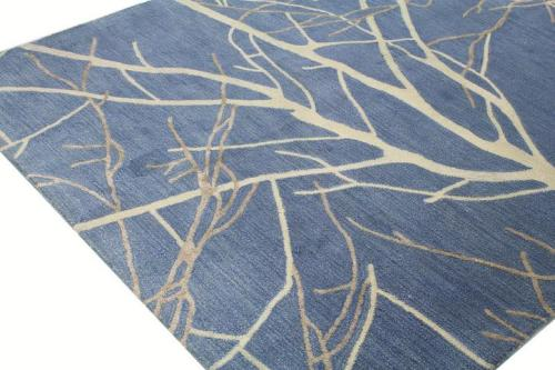High quality modern design polyester space-dyed jacquard pattern carpets